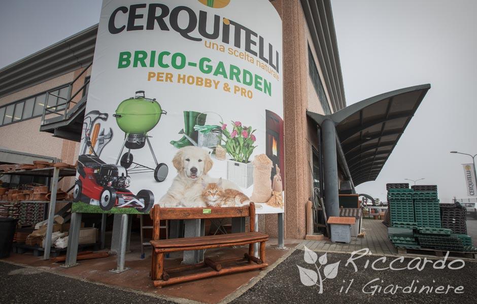 Esposizione panchina Riccardo il Giardiniere Sferracavallo Cerquitelli