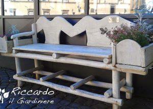 Panca in legno fatta a mano, Riccardo il Giardiniere