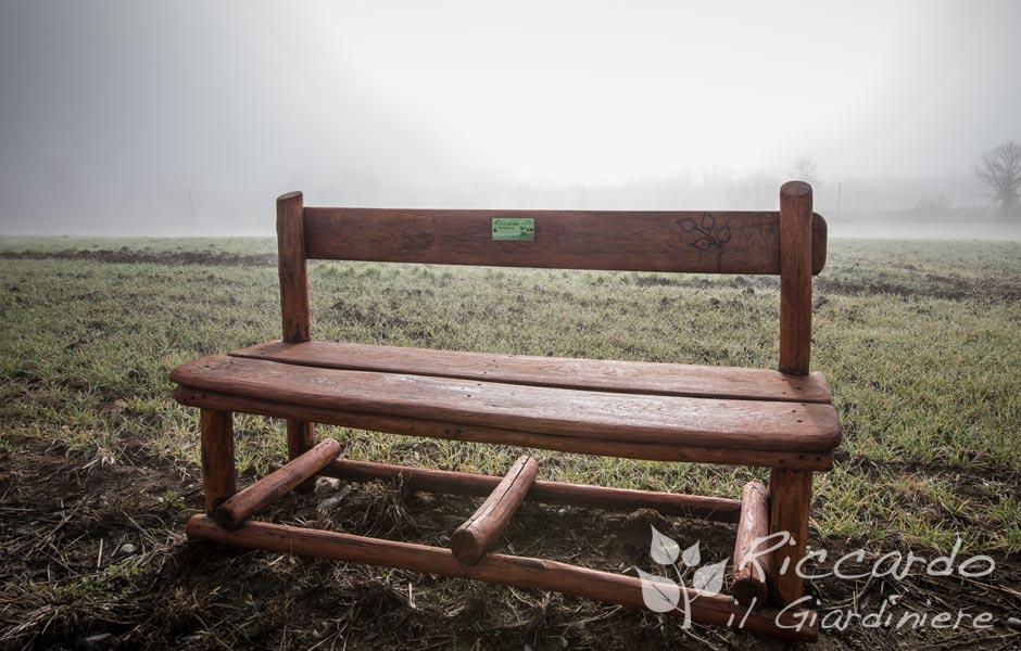 Panca di legno Riccardo il Giardiniere Orvieto