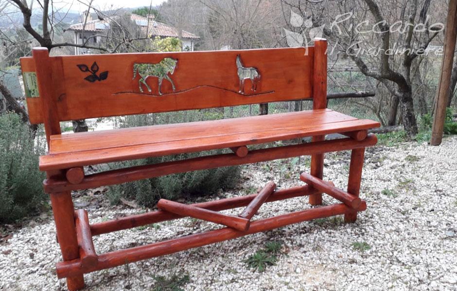 Arredo giardino Riccardo il Giardiniere Panca fatta a mano